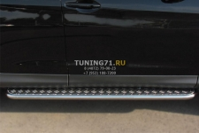 Honda CR-V 2013 Пороги труба d42 с листом) HVL-001341